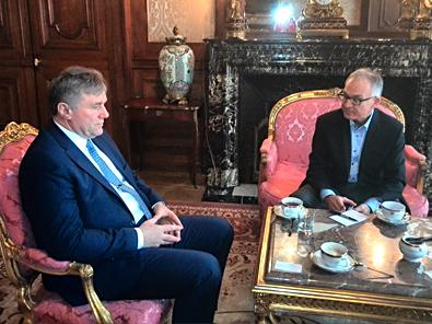 Wizyta konsula honorowego we Francji